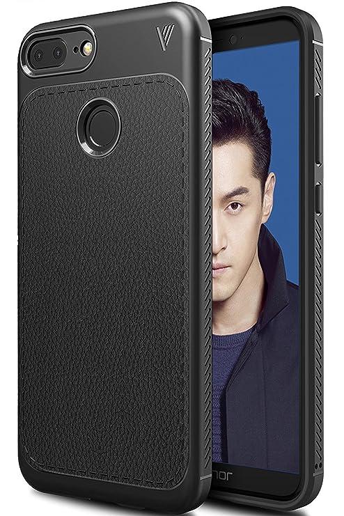 TTVie Funda para Honor 9 Lite, Carcasa Caso Cubierta de Protección de Litchi Textura TPU Silicona para Huawei Honor 9 Lite 5.65