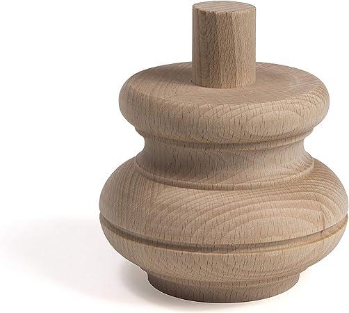 Holzfüße Möbelfüße Möbelfuß Schrankfuß Sofa Sesselfuß Holz Buche Rund Massiv