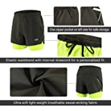 ARSUXEO Men's 2 in 1 Running Shorts Breathable
