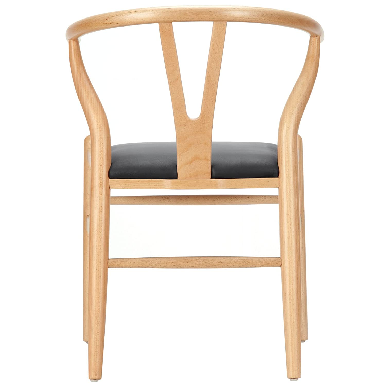 "Amazon LexMod Hans Wegner Style Wishbone ""Y"" Chair with"