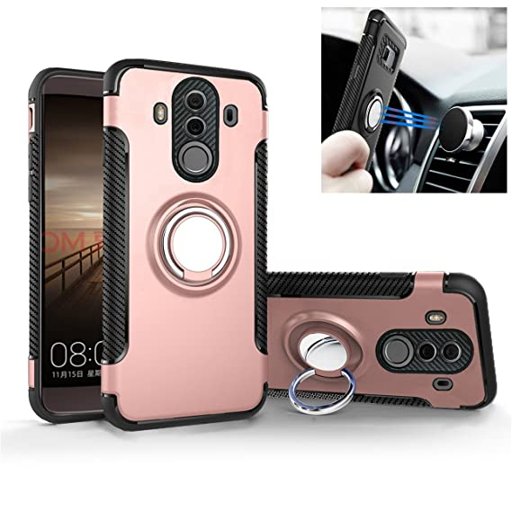 Huawei Mate 10 Pro case silicone Car holder cover Stent TPU+PC shock absorption Double protection Magnetic suction Iron sheets case For Huawei Mate 10 ...