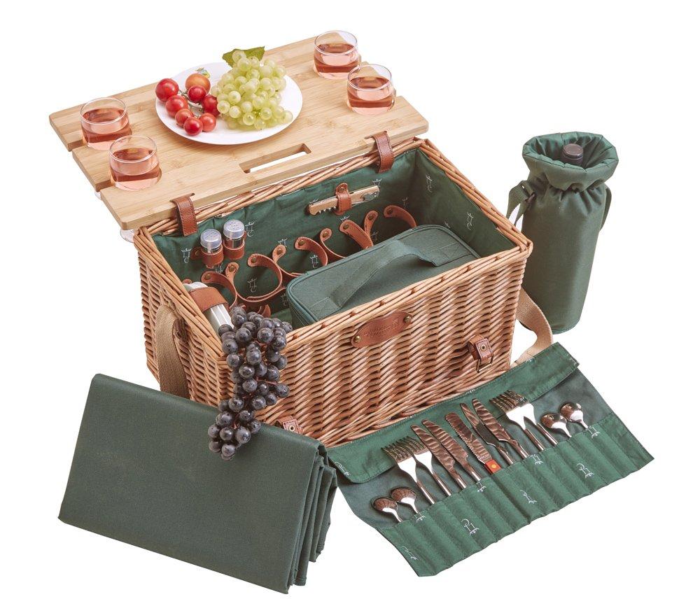 Picknickkorb Saint-Honoré Leder–4Personen