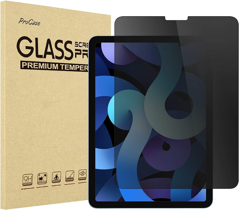 ProCase iPad Air 4 10.9 Inch 2020 Privacy Screen Protector, Anti-Spy Tempered Glass Screen Film Guard, Anti-Glare Anti-Scratch Screen Protector for iPad Air 10.9