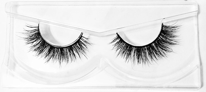 69598a06c0e Amazon.com : Sexy Voluminous Mink Lashes by Flutterfly Cosmetics   Chanel  Style   100% Siberian 3D Mink Handmade Eyelashes : Beauty