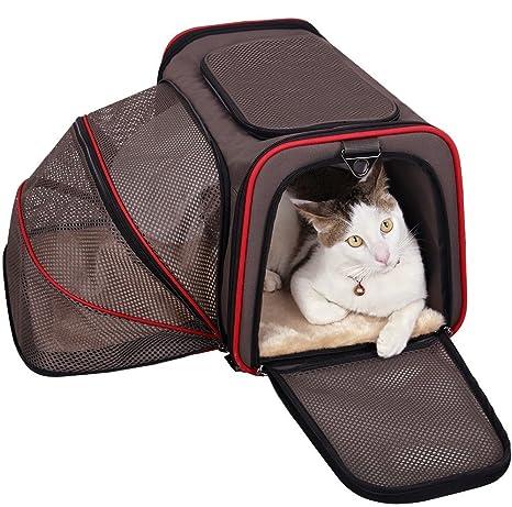 Bolsa de Transporte Portable para Perros y Gatos - Transportador para Mascotas Expandible y Plegable de