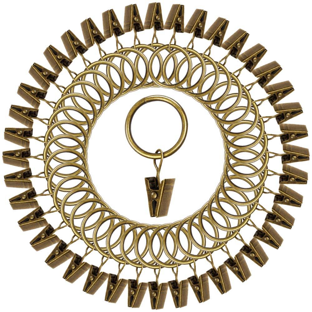 Starkes Metall rostfrei mit Clip Teenitor Gardinenklammern dekorativ 40 St/ück Bronze 5,1 cm Durchmesser