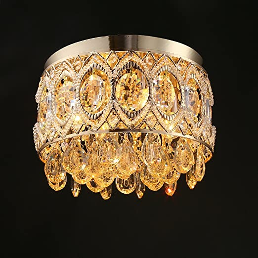 Crystal Ceiling Lighting Gold Wrought Iron Modern Retro (Not Include The  Light Source ) 4