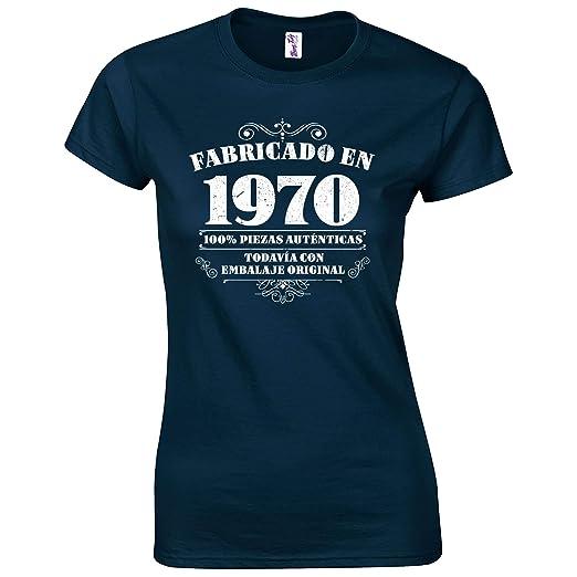 Bang Tidy Clothing Camiseta de Mujer para Regalo DE 50 cumpleaños Manufactured 1970