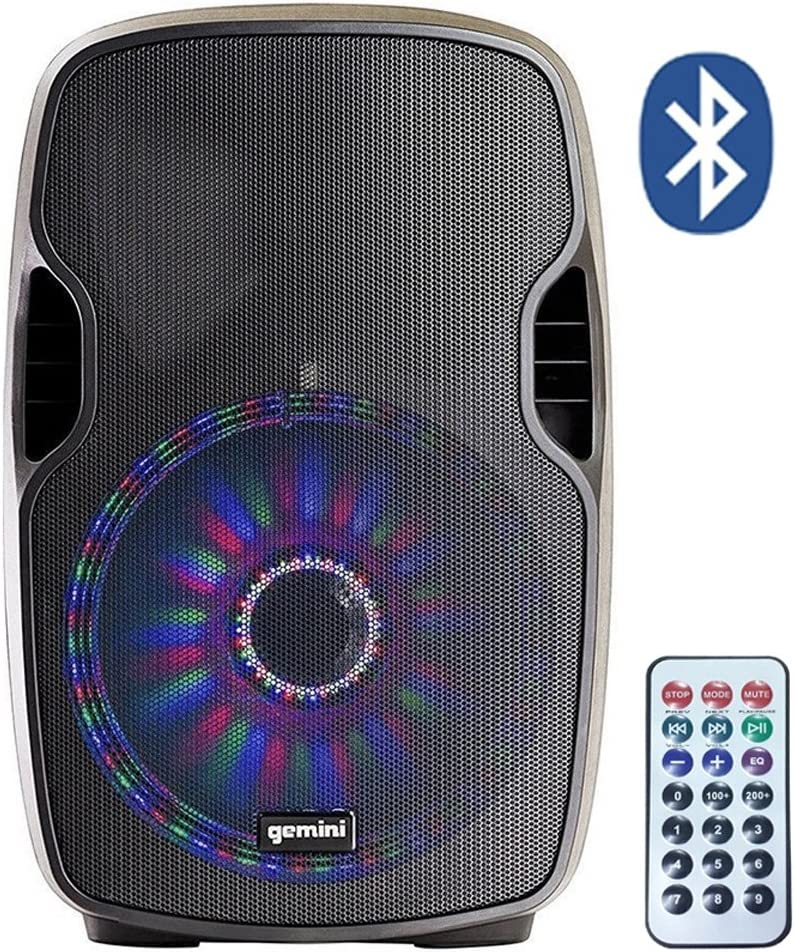 Gemini AS8P BLU Light - Difusor inalámbrico Amplificado (500 W + Beat-LED): Amazon.es: Electrónica