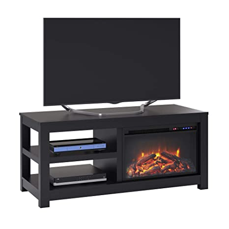 Surprising Parsons Electric Fireplace Tv Stand For Tvs Up To 55 Black Download Free Architecture Designs Scobabritishbridgeorg