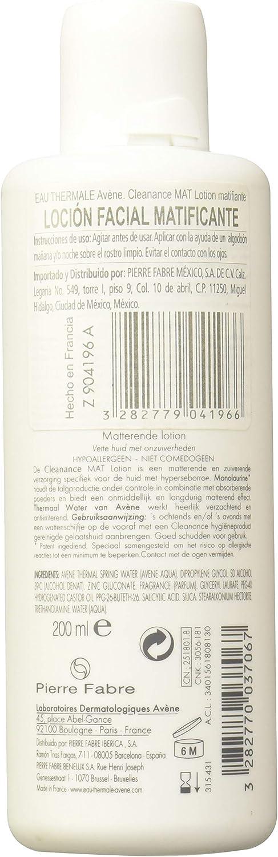 Avene Avene Cleanance Mat Lotion 200Ml 1 Unidad 200 ml: Amazon.es ...
