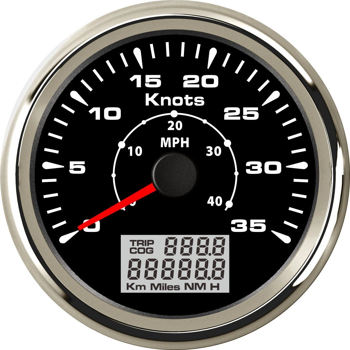 ELING Universal Marine GPS Speedometer Odometer 0-35KNOTS with Backlight 85mm by ELING