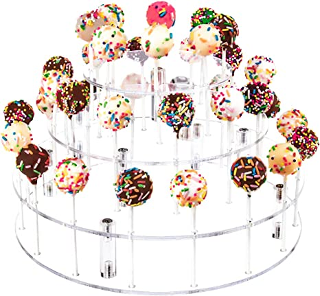 3 Tier 18 Cake Pops Display Holder Lollipop Stand Wedding Birthday Party Decor
