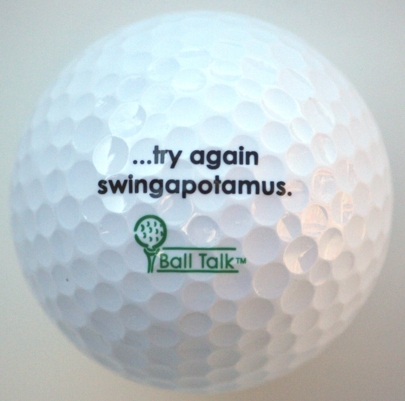 BallTalk Golf Balls - (''..try again swingapotamus'' - The 'Whiff' Series) 3-ball box