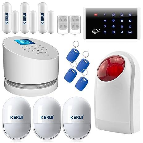 24g wifi alarm systemkerui w2 gsm landline wireless home burglar security system with