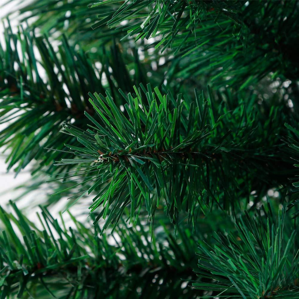 DIWIWON 60cm Sapin de No/ël Artificiel en PVC Support en m/étal Sapin de No/ël Artificiel pour D/écoration de No/ël Verte, 60 Branches