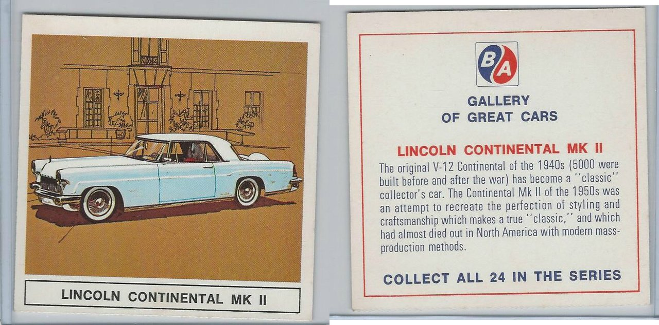 Uo63 Ba Oil Gallery Of Great Cars 1967 Lincoln Continental Mk Ii 1950s At Amazons Entertainment Collectibles Store