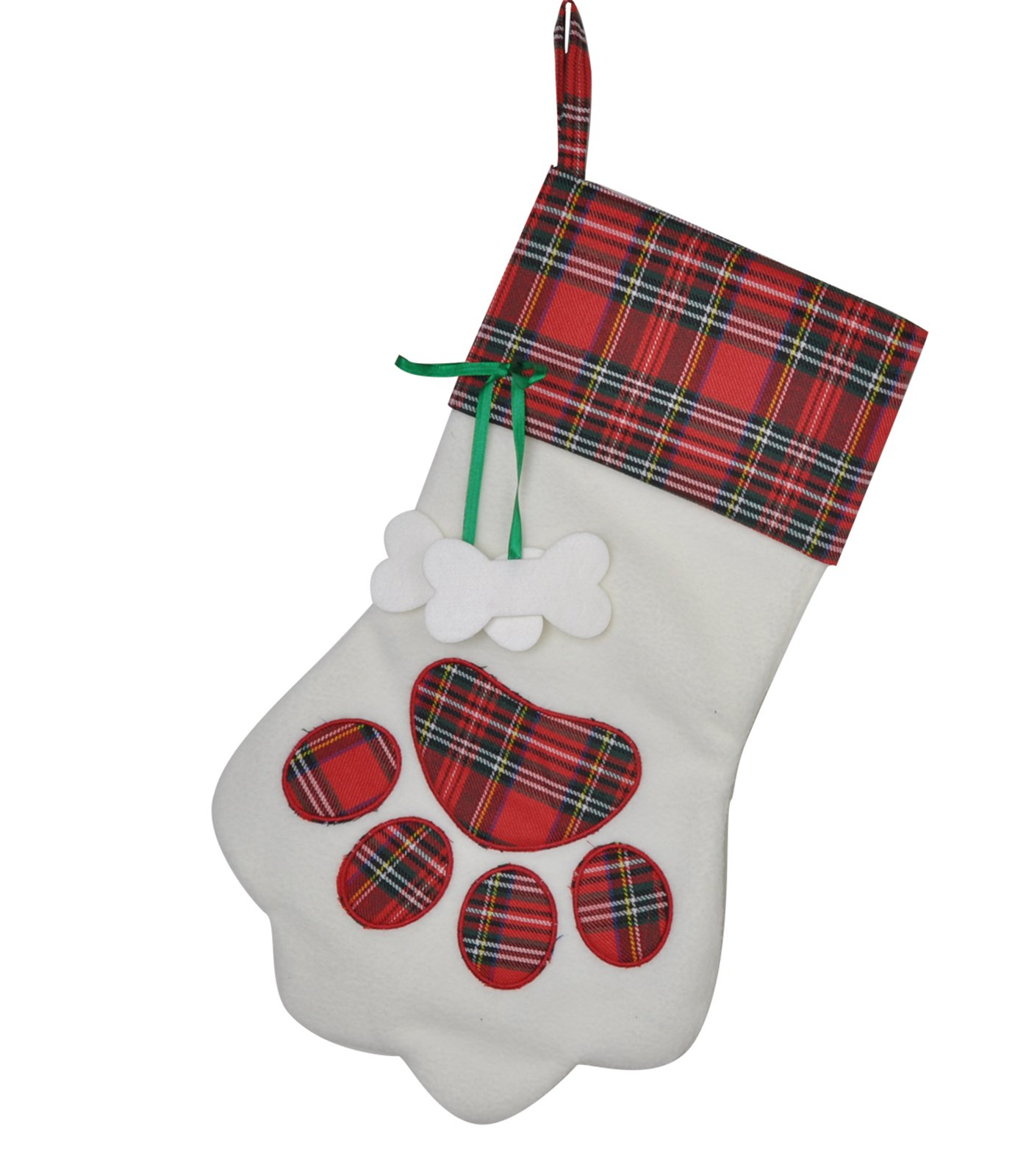 Love Wind Red Plaid Custom Paw Christmas Stockings Best Home Fireplace Decor