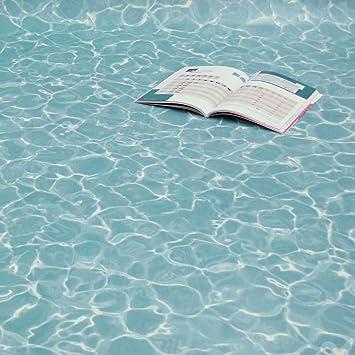 Gut PVC Bodenbelag Wasser Blau Swimming Pool Blue Breite 2 m (11,95  IV56