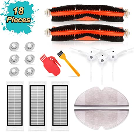 SAFETYON Accesorios Robot Aspirador Xiaomi (18 Piezas), Roborock ...