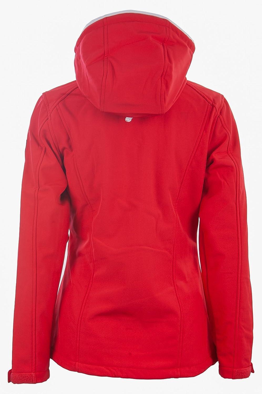 "Funktionsjacke /& Fr/ühlingsjacke Mit Kapuze Atmungsaktiv Modell /""Hooge/"" Wind /& Wasserabweisend Dry Fashion Softshell Jacke Damen"