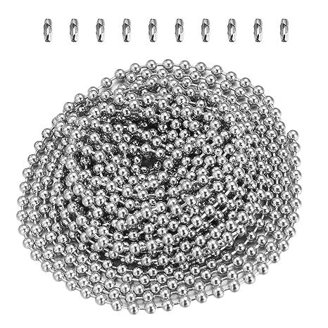 Yardwe Cadena de bolas de acero inoxidable de 2.4 mm Cadena ...
