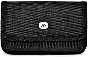 Wonderfly Horizontal Pouch Compatible with Apple iPhone SE 2020, iPhone 8 or iPhone 7, a XL Heavy Duty Rugged Nylon Canvas Carrying Case with Belt Clip, Fits The Phone with a Battery Case