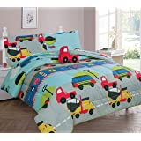 GorgeousHomeLinen 6-PC Twin Complete Bed in A Bag Comforter Bedding Set with Furry Friend and Matching Sheet Set for…