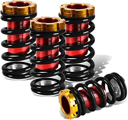 Fit 93-97 Del Sol Red Gold Adjustable Suspension Lowering Coilover Spring Kit