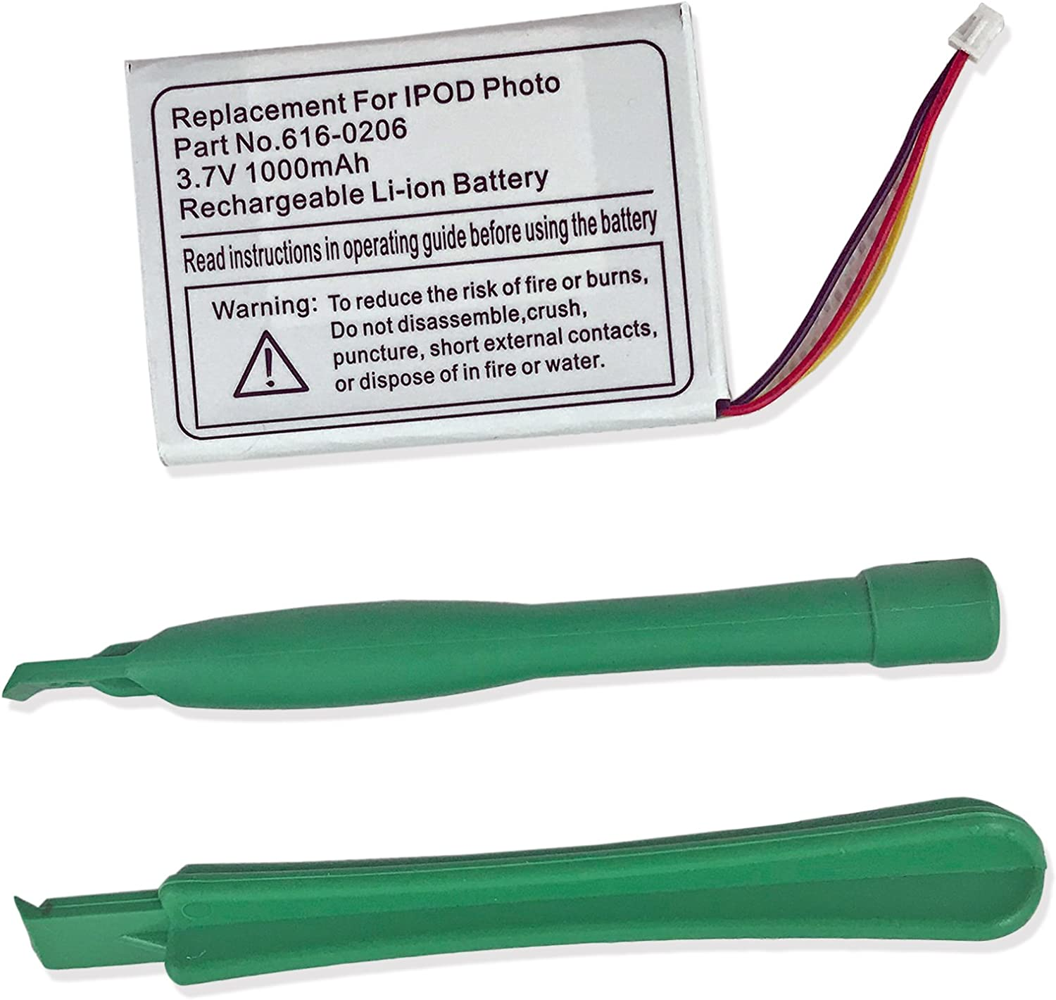 CBK 616-0206 Replacement Li-ion Battery for Apple iPod Classic 4th Photo 30GB 40GB 60GB M9585 M9586 M9829 M9830/Color with Tools