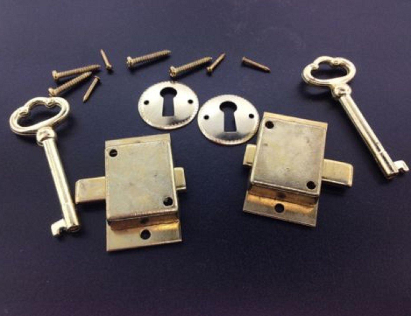 USA Premium Store 2 Curio Cabinet Front Door key and Lock Set