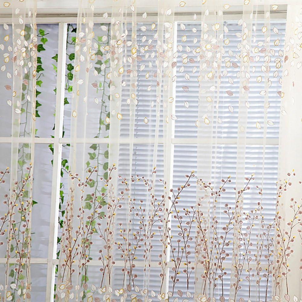 Winters/ü/ß Vorh/änge T/üll Fenster Behandlung Volie Drapieren Volant 1 Paneelstoff f/ür Wohnzimmer Schlafzimmer Kinderzimmer Babyzimmer Deko 100 x 270cm Pink ToDIDAF Transparente Gardinen Vorhang