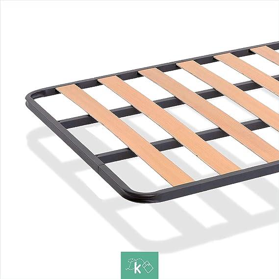 Dreaming Kamahaus SOMIER de lámina Ancha Estructura de 30x30 | Láminas de Chopo | con Patas cuadradas 27 cm | Fabricado en España |90 x 200 cms.|
