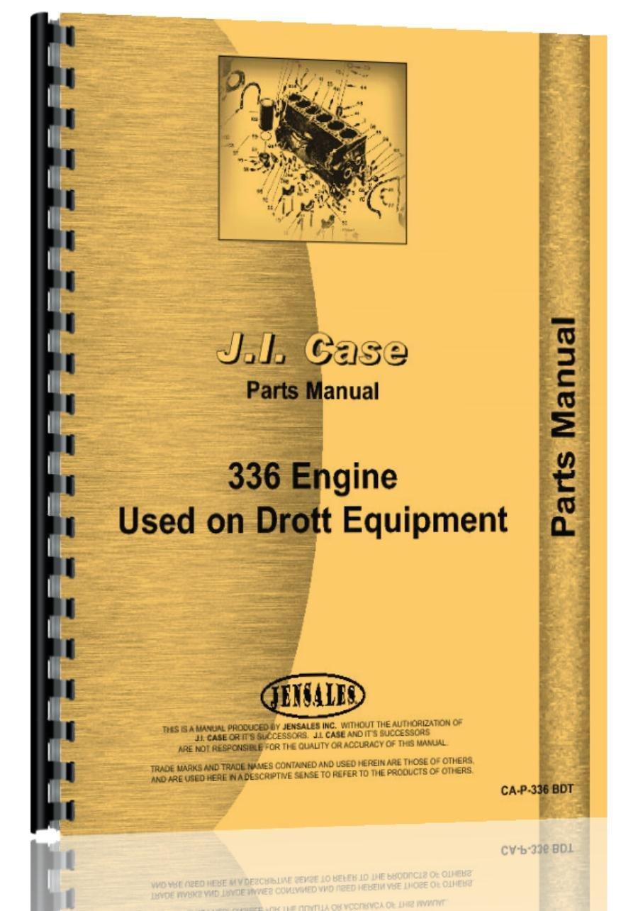 Amazon.com: Case 336 BD BDT Diesel Engine Parts Manual Catalog: Home  Improvement