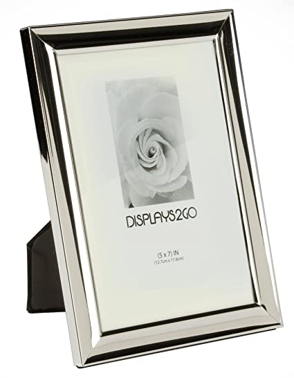Amazon.com - Displays2go BWPF57S427 Bulk Picture Frames, 5 x 7, Silver -
