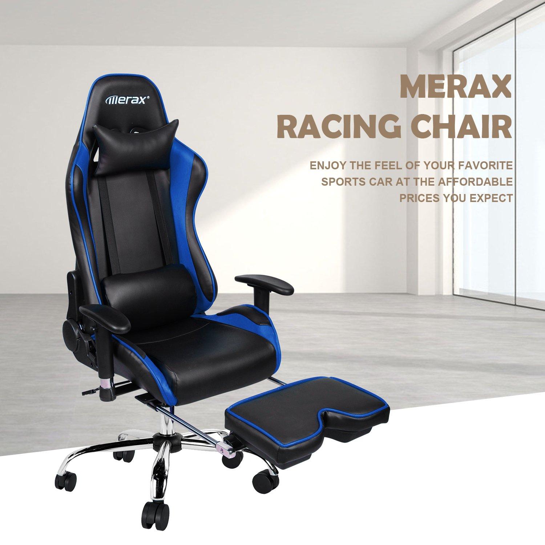 Amazon Merax Ergonomic Racing Gaming Chair with Adjustable
