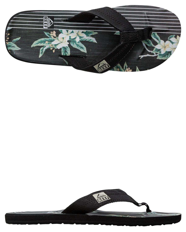 Reef HT Prints - Sandalias Flip-Flop Hombre 8 D(M) US|Black/Floral