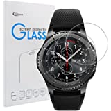 Samsung Gear S3 Classic / Frontier Screen Protector [2 PACK], Qoosea Ultra-thin 2.5D 9H Hardness Crystal Clear Scratch Resistant Tempered Glass Screen Protector for Samsung Galaxy Gear S3 Smart Watch