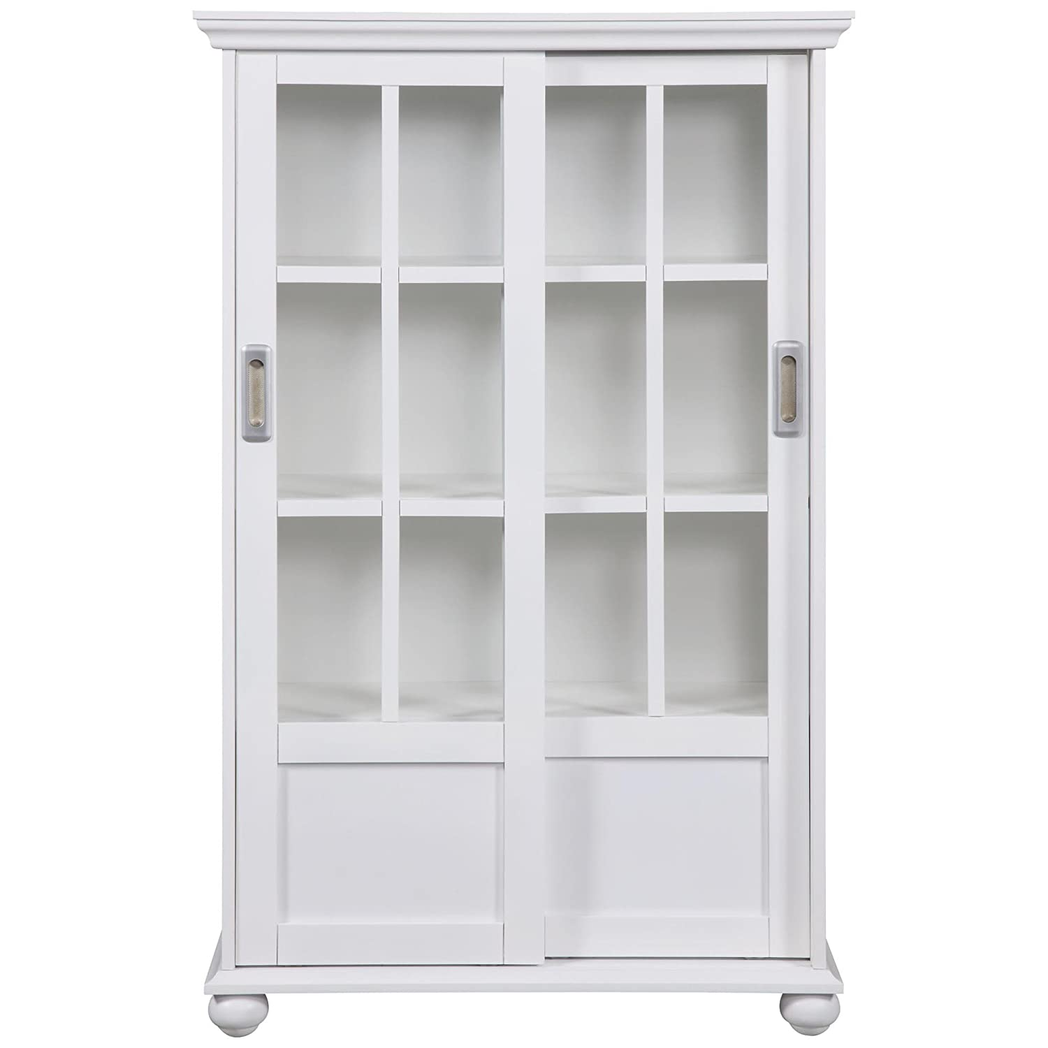 Amazon.com: Altra 9448096 Bookcase with Sliding Glass Doors, White: Kitchen  & Dining