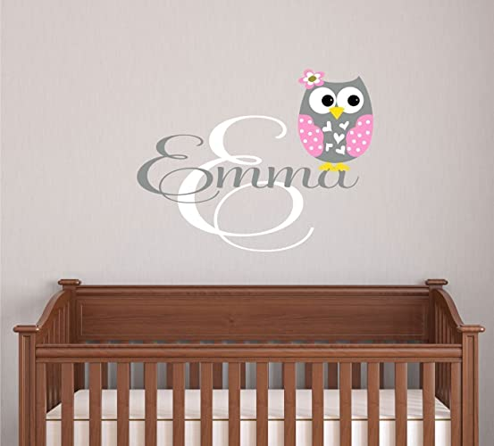 Amazoncom Owl Decor Owl Name Wall Decal Name Vinyl Decal - Vinyl wall decals kids