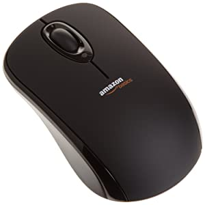 AmazonBasics Wireless Mouse with Nano Receiver (MGR0975)
