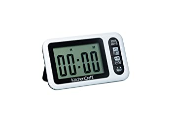 Compra Kitchen Craft Digital de Cocina y Temporizador de Reloj de Pared de Horas y los Minutos se o Minuto y Segundo Pantalla en Amazon.es