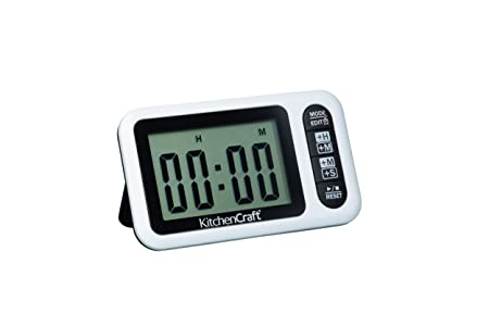 Kitchencraft 24 Hour Digital Kitchen Timer And Clock Amazon Co Uk