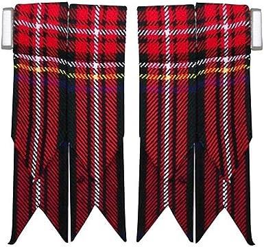 S,M,L Cream Kilt Hose Socks with Blue Saltire Emblem Available in