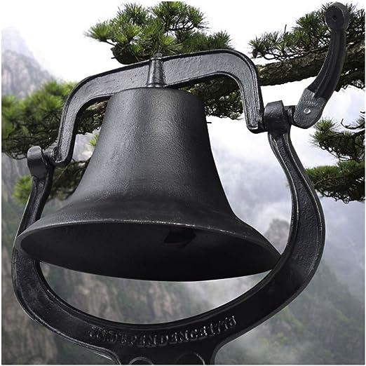 Lehom Premium Large Heavy Cast Iron Bell Antique Vintage Style Farmhouse Dinner Bell Liberty Farm Church School
