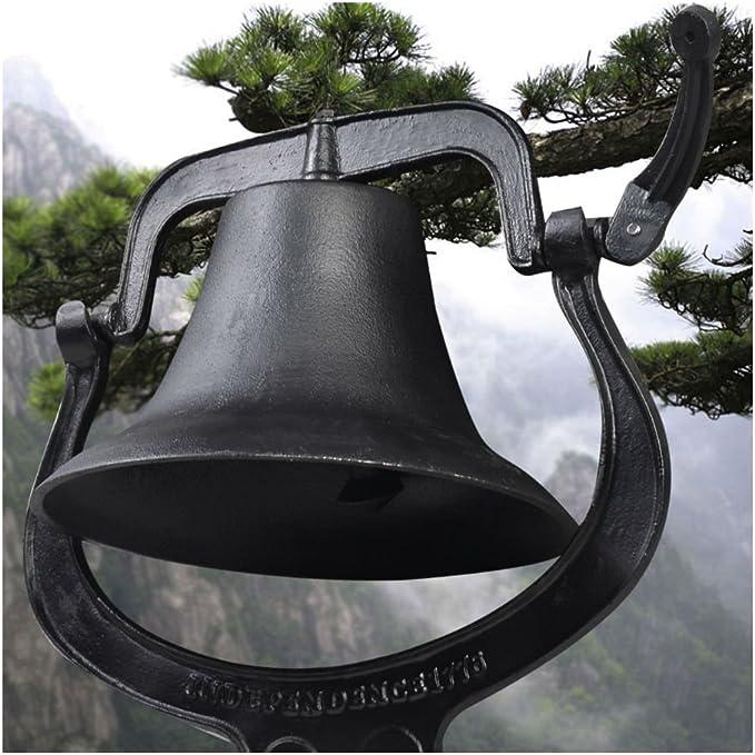 "Amazon.com: 14"" Large Cast Iron Dinner Farm Bell Antique Vintage Style Church School"