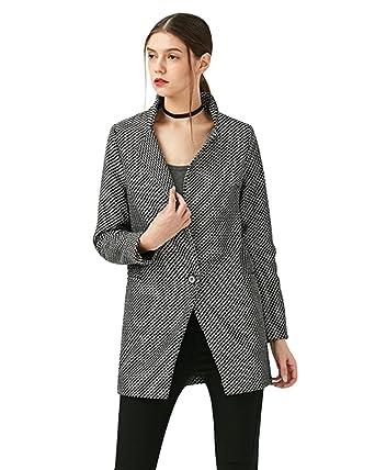 Laine Style Manteau Et Ol Femme Zaful Gris Long Hiver Foncé pv7wwq