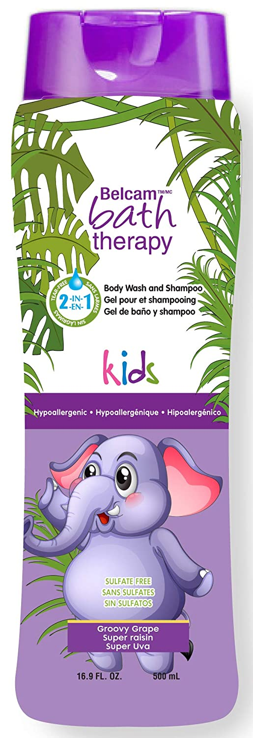 Belcam Bath Therapy Kids' Body Wash and Shampoo, Groovy Grape (packaging may vary) C52020