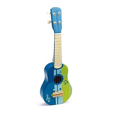 Hape Kid's Wooden Toy Ukulele in Blue: Toys & Games