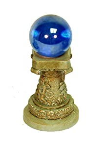 Echo Valley 6258 Mini Gazing Globe and Column, 1.25 by 1.25 by 2.5-Inch, Grey Blue